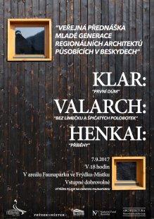 Veřejná přednáška mladé generace architektů působících v Beskydech