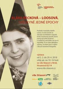 Klára Becková-Loosová : Svědkyně jedné epochy - výstava ve vile Stiassni