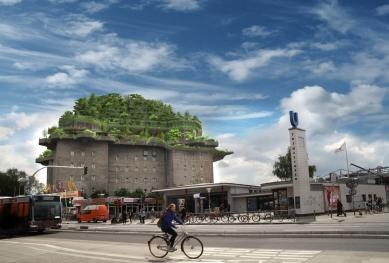 V Hamburku se protiletecká věž z války promění na městský park