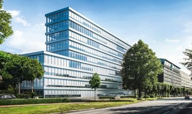 Nová sluneční clona Schüco CSB odolá i vichřici schopné vyvracet stromy                             - Protisluneční clona Schüco CSB je nepostřehnutelnou součástí designu budovy.