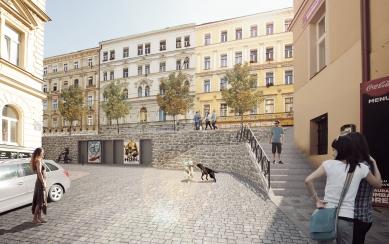 Seifertova ulice pravděpodobně změní podobu - Schodiště návrh - foto: edit!
