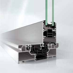Posuvný systém Schüco ASE 80 je jako stvořený pro pasivní domy - Venkovní rám s odtokovou drážkou