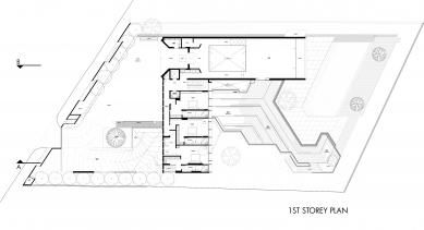 House X v Singapuru - Půdorys 1NP