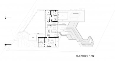 House X v Singapuru - Půdorys 2NP