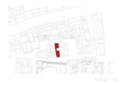 Starý odchodní dům ve Frankfurtu od Meinrada Morgera - Situace - foto: Morger Partner Architekten