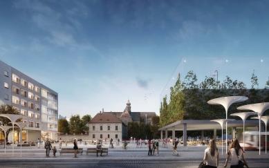 Budoucnost Mendlova náměstí - vernisáž výstavy - 1. místo - foto: dílna