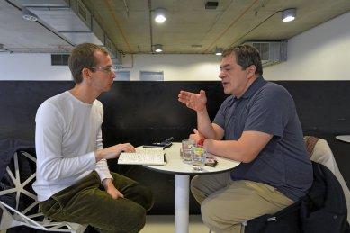 Rozhovor s Vasou J. Perovićem - Rozhovor Vasy J. Peroviče 26. listopadu 2018 v NTK - foto: Petr Šmídek, 2018