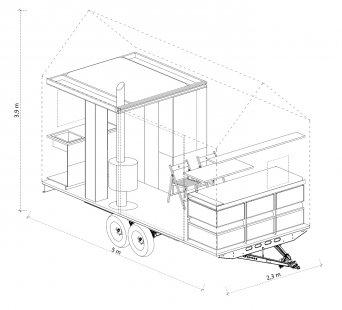 Designový domek Mobile Hut má kola, jezhliníkového plechu, ale ctí archetypální tvar českého domu - Dům je promyšlen do posledního nýtku, každý milimetr prostoru je vyřešen tak účelně, že do něj sbalíte byt o velikosti 2+kk.