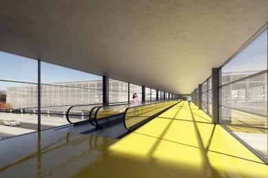 Letiště Václava Havla - úprava prostoru před Terminálem 2 - Vizualizace vítězného návrhu - foto: D3A