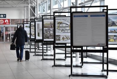 Letiště Václava Havla - úprava prostoru před Terminálem 2