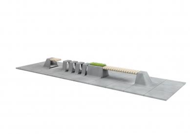 Modulární městský mobiliář G-ROW