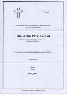 Zemřel architekt Pavel Kupka