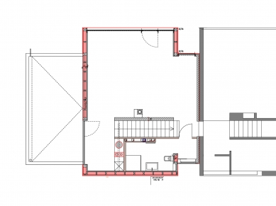 Soukromý dům v německém Gersthofenu ve stylu Miese van der Rohe - Půdorys 2NP