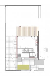 Soukromý dům v německém Gersthofenu ve stylu Miese van der Rohe - Půdorys 1NP