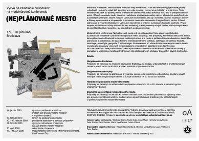 (Ne)plánované mesto - výzva k zasílání konferenčních příspěvků
