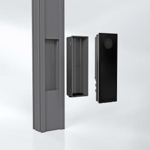 Schüco DCS SmartTouch: Návštěvě otevřete dveře i pomocí mobilu, doma být nemusíte - Obdélníkový výřez a samostatné instalační pouzdro umožňují rychlou a snadnou instalaci. - foto: Schüco