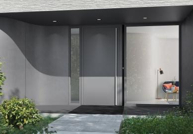 Schüco DCS SmartTouch: Návštěvě otevřete dveře i pomocí mobilu, doma být nemusíte - Systém DCS SmartTouch zahrnuje videokameru, zvonek a senzor intenzity světla v jediném, elegantně zpracovaném modulu. - foto: Schüco