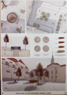 Vodní prvky na Dominikánském náměstí v Brně - výsledky soutěže - 1. místo - foto: Radim Horák