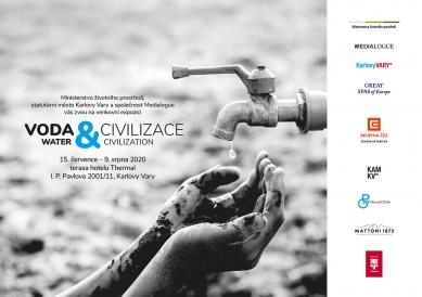 Voda a civilizace - výstava na terase hotelu Thermal