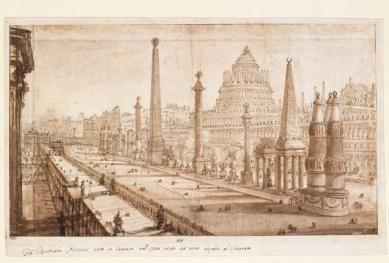 300 let od narození Piranesiho - výstava v berlínské Kunstbibliothek - Rekonstrukce Circus Maximus v Římě, kolem 1750-1751 - foto: Giovanni Battista Piranesi