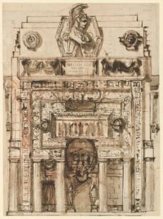 300 let od narození Piranesiho - výstava v berlínské Kunstbibliothek - Náhrobek, kolem 1765 - foto: Giovanni Battista Piranesi