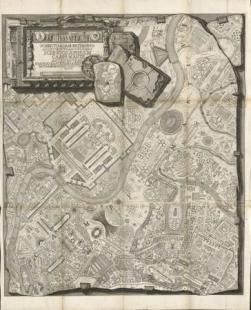 300 let od narození Piranesiho - výstava v berlínské Kunstbibliothek - Velký plán antického Martova pole v Římě, 1757  - foto: Giovanni Battista Piranesi