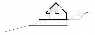 Dům s výhledem do údolí - Řez