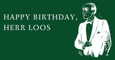 Happy birthday, Herr Loos - studentská architektonická soutěž