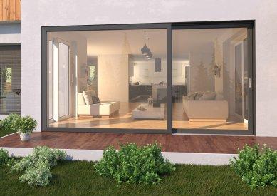 Designový dveřní systém VEKAMOTION 82 pro dokonale prosvětlený interiér