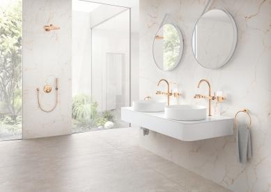 Zákazník jako tvůrce osobitého koupelnového interiéru