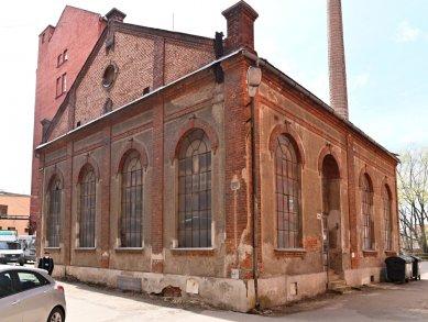 Návrh na prohlášení areálu Mosilany v Brně za kulturní památku - Bývalá parní kotelna továrny D. Hecht - foto: NPÚ
