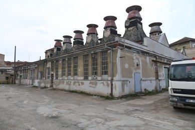 Návrh na prohlášení areálu Mosilany v Brně za kulturní památku - Barevna David Hecht z roku 1930 se speciálním střešním systémem odvětrávání - foto: NPÚ