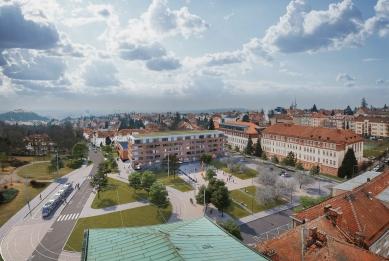 Výsledky soutěže na brněnské náměstí Míru - 3. cena - ATELIER RAW s.r.o.