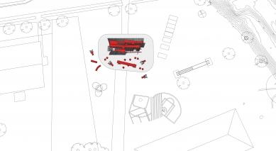 Instalace OFF FENCE na Benátském bienále architektury 2021 - Situace