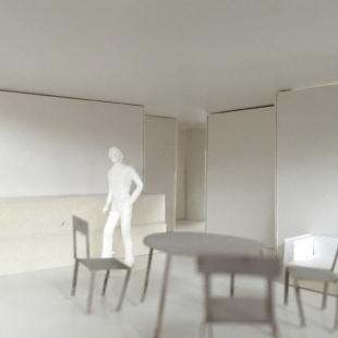 Bytové domy 4 Dvory v Českých Budějovicích - vítězný projekt - Fotografie modelu - foto: Malý Chmel