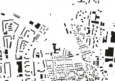 Bytové domy 4 Dvory v Českých Budějovicích - vítězný projekt - Schwarzplan - foto: Malý Chmel