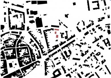 Městské bydlení Polička - vítězný projekt - Situace - foto: Apropos Architects