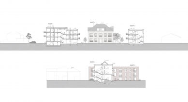 Městské bydlení Polička - vítězný projekt - Řezy - foto: Apropos Architects