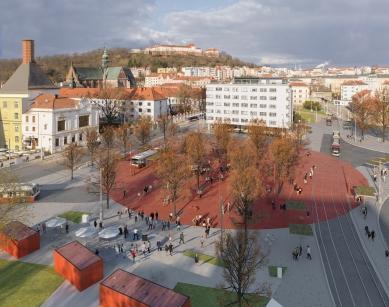 Mendlovo náměstí v novém - rušný dopravní uzel se promění - Vizualizace - foto: CHKAA