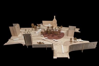 Mendlovo náměstí v novém - rušný dopravní uzel se promění - Fotografie modelu - foto: CHKAA