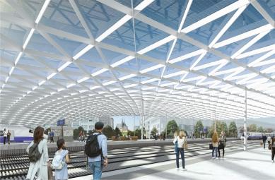 Soutěž na nové brněnské hlavní nádraží vyhráli nizozemští Benthem Crouwel - 3. cena - ingenhoven architects GmbH, Architektonická kancelář Burian-Křivinka, architekti Koleček-Jura