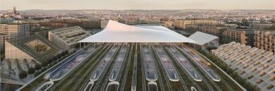 Soutěž na nové brněnské hlavní nádraží vyhráli nizozemští Benthem Crouwel - 4. cena - BIG – Bjarke Ingels Group + A8000 s.r.o.