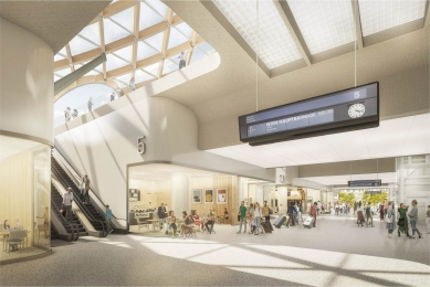 Soutěž na nové brněnské hlavní nádraží vyhráli nizozemští Benthem Crouwel - 2. cena - Sdružení Pelčák a partner architekti – Müller Reimann Architekten