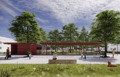 Výsledky soutěže na obnovu Mírového náměstí v Hodoníně - 2. místo – 2M ateliér architektúry s.r.o.