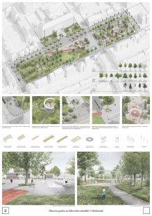 Výsledky soutěže na obnovu Mírového náměstí v Hodoníně - 3. místo – míza architekti