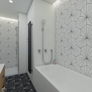 Jak našla architektka svého partnera pro koupelny - Návrhy koupelen, které vzešly ze spolupráce Perfecto design s Ing. arch. Gabrielou Soušek Pojerovou.