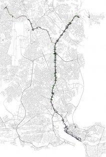 LAGOS - MĚSTO ZÍTŘKA - Zdokumentovaná dopravní trasa - foto: &copy ITP, FAM Architekti