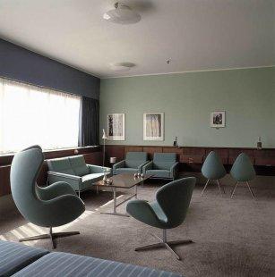 Příběh skandinávské moderny III. - Radisson SAS Royal Hotel, interiéry pokoje 606, 1956 - 1961, Kodaň - foto: Fritz Hansen