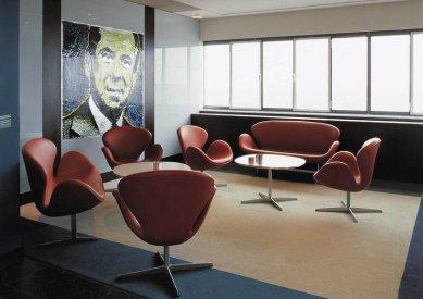 Příběh skandinávské moderny III. - Radisson SAS Royal Hotel, konferenční místnost, 1956 - 1961, Kodaň - foto: Fritz Hansen