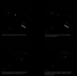 Tišnov - úprava náměstí Míru - Prostorová schémata - foto: Ing. arch. Lukáš Pecka, Ing. arch. Barbora Šimonová, Ing. arch. Jiří Vokřál